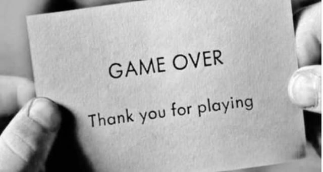Game over - Thank you for playing